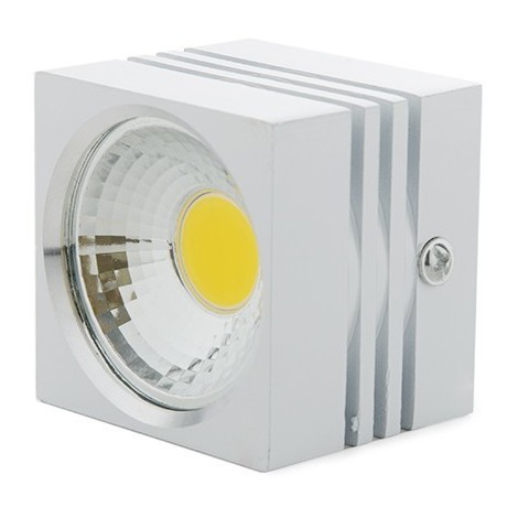 Foco Downlight LED de Superficie COB Cuadrado Blanco 57X57Mm 3W 270Lm 30.000H BF-MZ3002-3W-W-R-WW