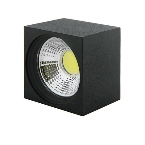 Foco Downlight LED de Superficie COB Cuadrado Negro 57X57Mm 3W 270Lm 30.000H BF-MZ3002-3W-B-CW