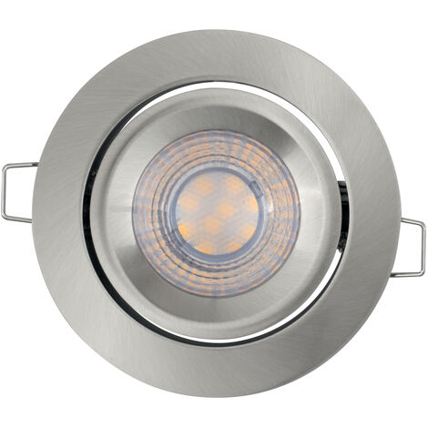 Foco Downlight LED Plata 5W 2700K Luz Calida Regulable