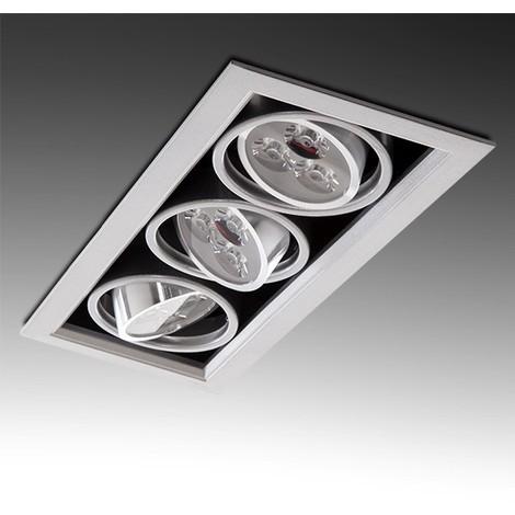 Foco Downlight LED Rectangular 9W 900Lm 30.000H | Blanco Natural (PL304038W)