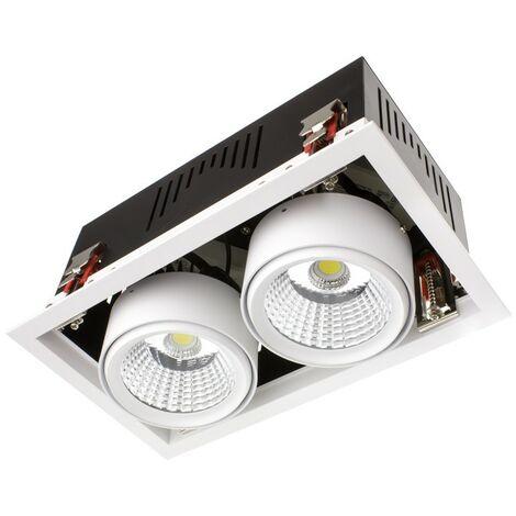 Foco Downlight LED SAMSUNG-COB Direccionable Grill 60W LIFUD Corte 270x140 mm Blanco Frío 5000K - 5500K - Blanco Frío 5000K - 5500K