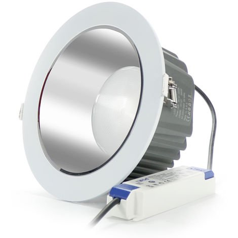 Foco Downlight LED Silver 50W Chip Osram UGR17 Driver LIFUD