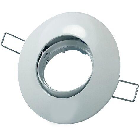 Foco empotrable basculante zamak circular Blanco