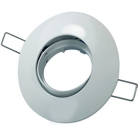 """main image of """"Foco empotrable basculante Zamak circular Blanco - Blanco"""""""
