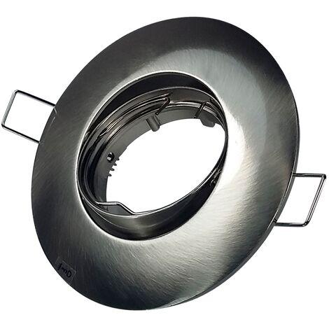 """main image of """"Foco empotrable basculante zamak circular níquel Satinado - Niquel Satinado"""""""