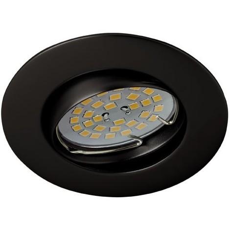 Foco empotrable BASIC redondo negro basculante. Wonderlamp