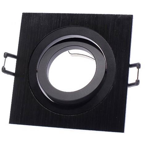 Foco empotrable classic cuadrado negro