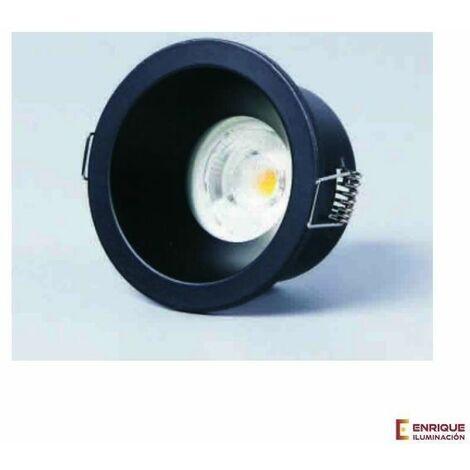 Foco empotrable Comfort para baño IP54 | Redondo negro