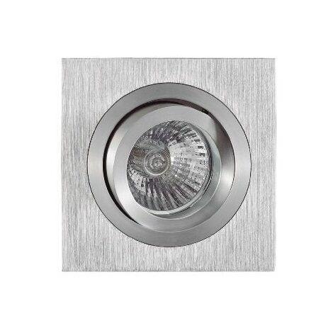 Foco empotrable cuadrado aluminio Basic Ø9,2 cm