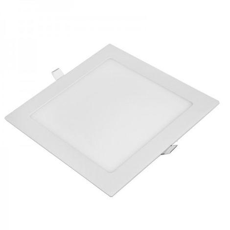 Foco empotrable cuadrado downlight plano 18W | Blanco cálido 3000K