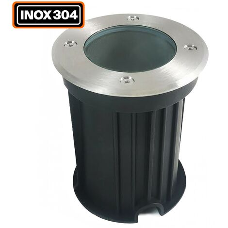 Foco empotrable de suelo redondo acero inoxidable 304 Exterior IP65 GU10