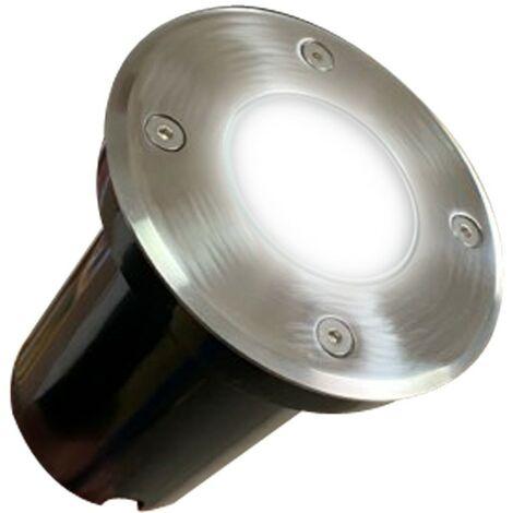 Foco empotrable de suelo redondo acero inoxidable cuadrado exterior IP65 GU10