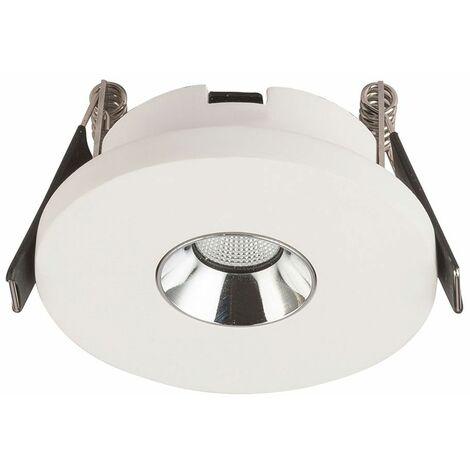 Foco empotrable de techo LED para salón / dormitorio, lámpara de yeso, blanco Globo 55010-1E