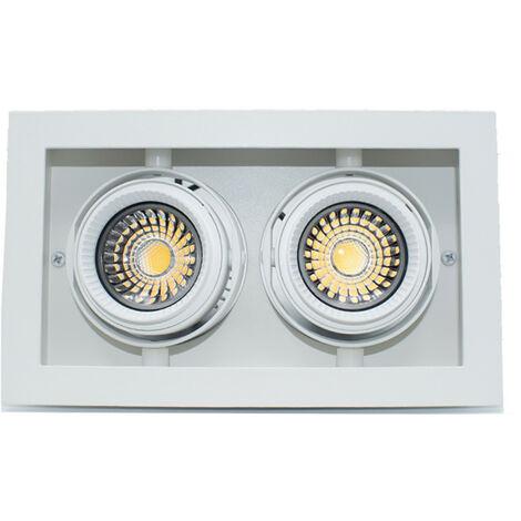 Foco empotrable Forma de Iluminación Multigimbalo 2X11W 3000K haz de 36°