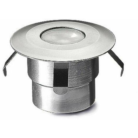 Foco empotrable Gea, Led 0.5W, aluminio y vidrio