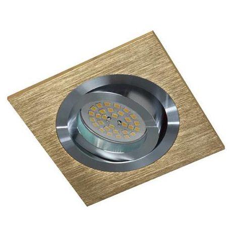 Foco empotrable Kardan Helium cuadrado cobre