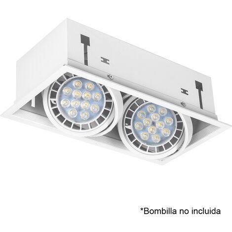Foco empotrable Kardan serie Cesar blanco 2 lámparas