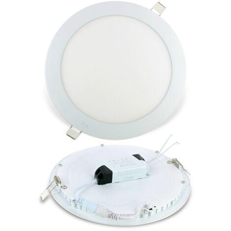 Foco empotrable LED 18W Redondo ultra delgado | Blanco cálido 3000K