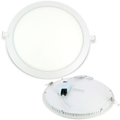 Foco empotrable LED 24W Round ultra slim + Driver | Blanco cálido 3000K