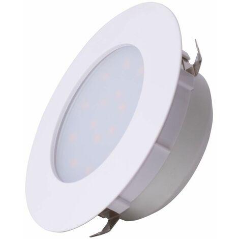 Foco empotrable LED spot spot blanco salón iluminación plafón redondo Eglo 78739