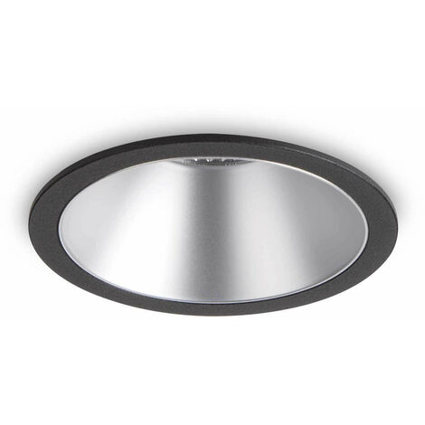 Foco empotrable Negro / Plata GAME 1 bombilla de aluminio