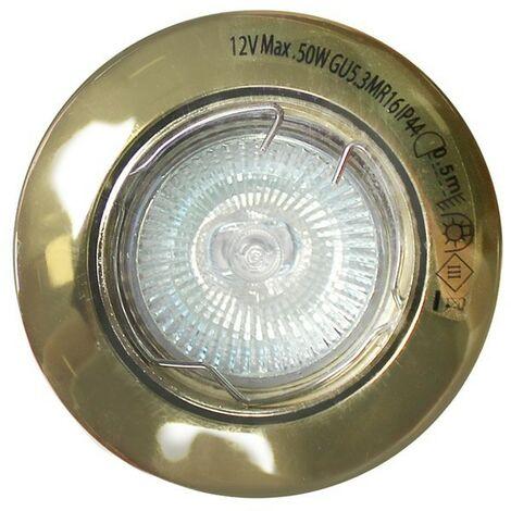 Foco empotrable oro viejo (50W halógena) CRISTALRECORD 7263607