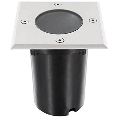 Foco Empotrable para Suelo IP54 Cuadrado con Casquillo GU10 Gris,Negro | IluminaShop
