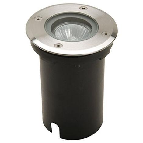 Foco Empotrable para Suelo IP67 Circular con Casquillo GU10 Gris,Negro   IluminaShop
