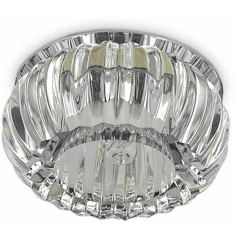 "main image of ""Foco empotrable transparente de cristal SOUL 1 bombilla de metal"""