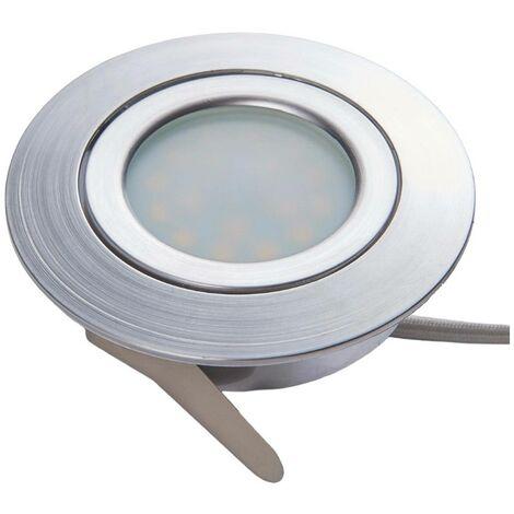 Foco empotrado LED Andrej, redondo aluminio set 3