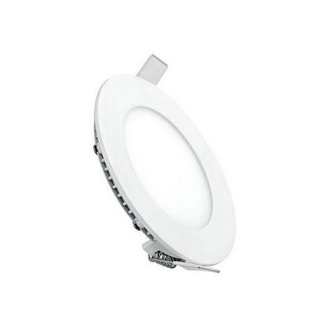 Foco Empotrado LED - en el techo, la pared - Blanco en Metal, Acrilico, 120 x 120 x 22 cm, 1 x LED, 6W, 600LM, 6500K