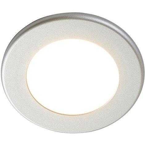 Foco empotrado LED Joki plata 3000K redondo 11,5cm
