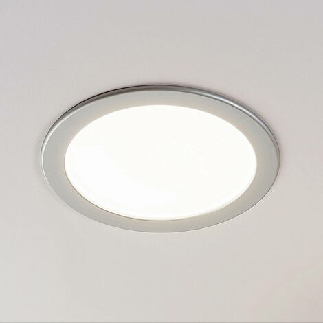 Foco empotrado LED Joki plata 3000K redondo 24cm