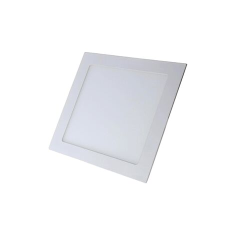 Foco empotrar cuadrado blanco 12w 4000k luz neutra