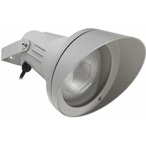 Foco Esparta ajustable, aluminio y vidrio, gris.