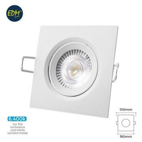 Foco ilumin 5w 380lm 6400k Ø7,4x11x9cm downlight edm pl bl c