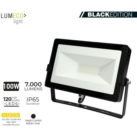"FOCO LED 100W 4000K 7000 LUMEN ""BLACK EDITION"" LUMECO"