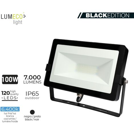 "FOCO LED 100W 6400K 7000 LUMEN ""BLACK EDITION"" LUMECO"