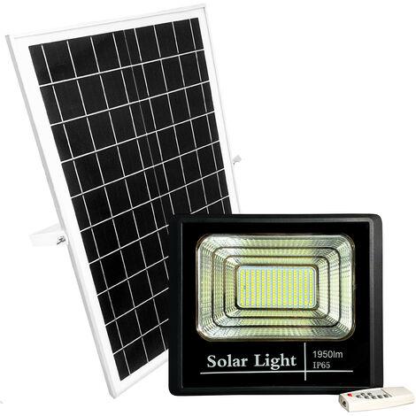 Foco LED 100W A Batería Con Placa Solar IP65