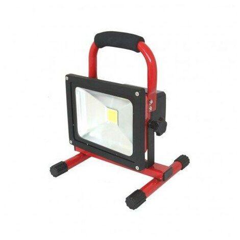 Foco LED 10W 12V+Bateria+Alimentador 12/24/230V