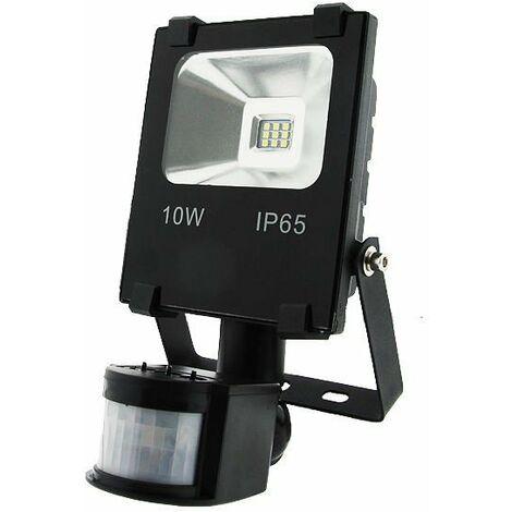 Foco LED 10W MultiSMD Extraplano con Detector de movimiento.