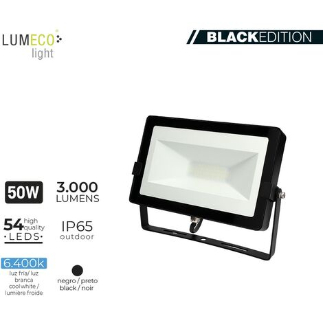 "FOCO LED 50W 6400K 3000 LUMEN ""BLACK EDITION"" LUMECO"