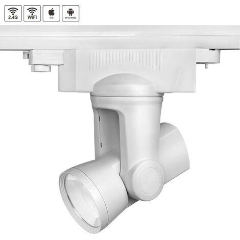 Foco LED ALPHA LITE RGB+CW WiFi Trifásico, 25W, RGB + Blanco frío, regulable - RGB + Blanco frío