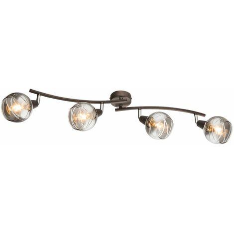 Foco LED barra lámpara de techo bolas de vidrio lámpara de iluminación para dormitorio ajustable Globo 54347-4