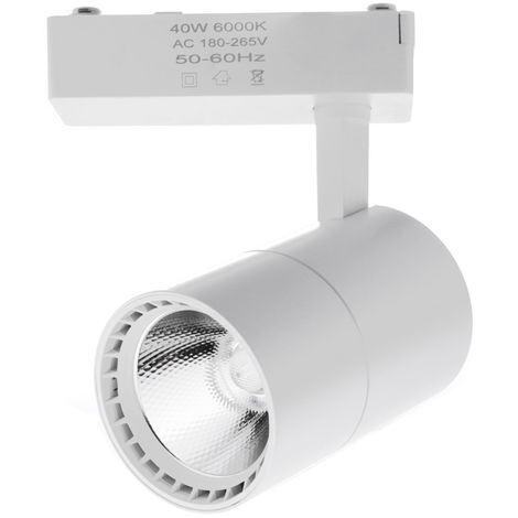 Foco led carril 40W luz 6000K color blanco monofasico