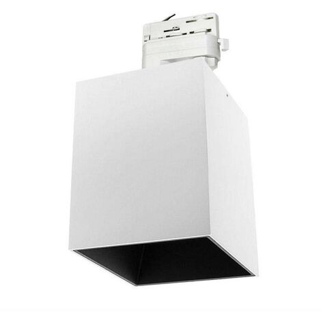 Foco LED Carril Trifásico Blanco PROLUX Rail Housing Square 135