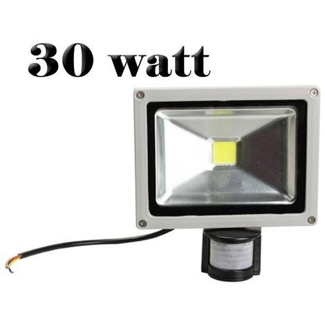 Foco led con sensor de movimiento y sensor crepuscular luz FRIA 6500k ext IP65