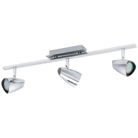 Foco LED corbera 7,5W de 3 luces/Cromo