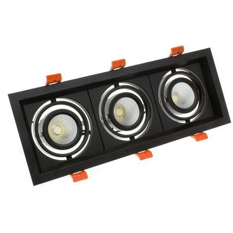 Foco LED CREE-COB Direccionable Madison Negro 3x10W LIFUD (UGR 19)