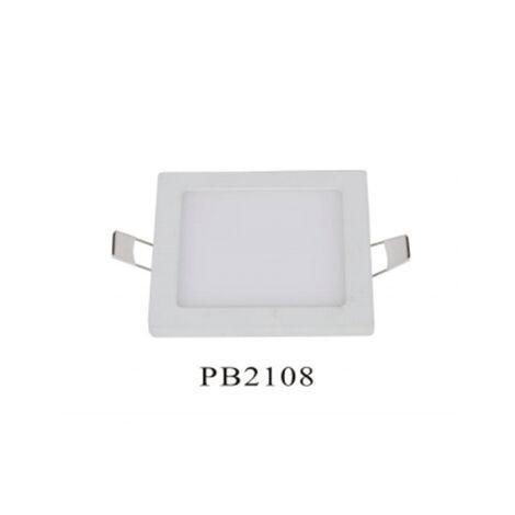 Foco LED cuadrado blanco de empotrar 8W 6000K luz fría